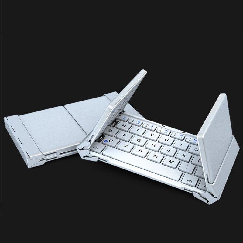 Clavier Bluetooth pliant de poche pour tablette pour iPad 2018 clavier pliant Bluetooth systèmes Android pour ordinateur portable de bureau