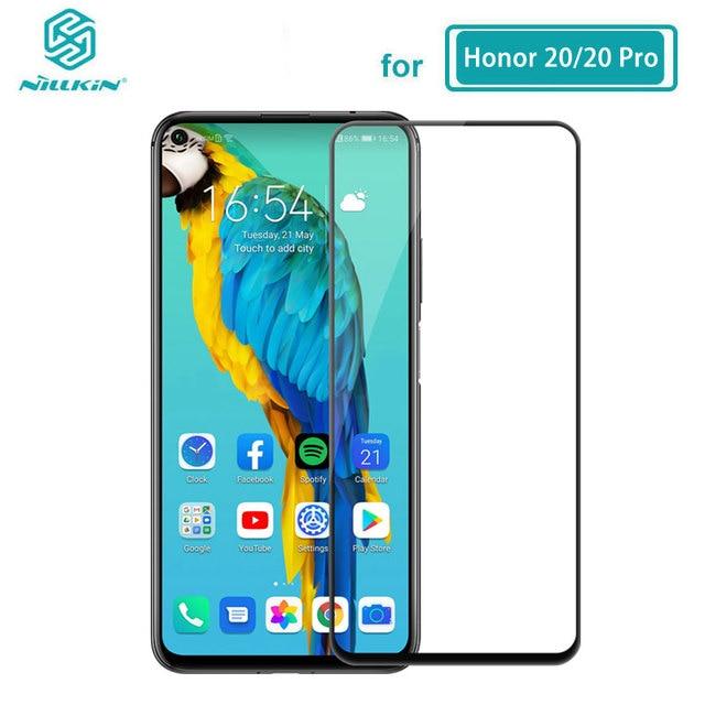Temperli cam için Huawei Honor 20 30 Pro 20S 30S Nova 5T Nillkin CP + Pro tam tutkal ekran koruyucu Huawei Honor 20 cam