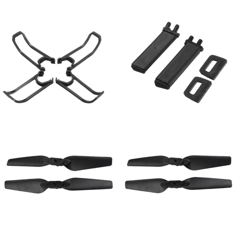Outdoor Drone E58 Flying Accessories 4 Pieces With Locking Blades 4 Pieces Protection Frame 2 Pieces Landing Gear Skateboard S