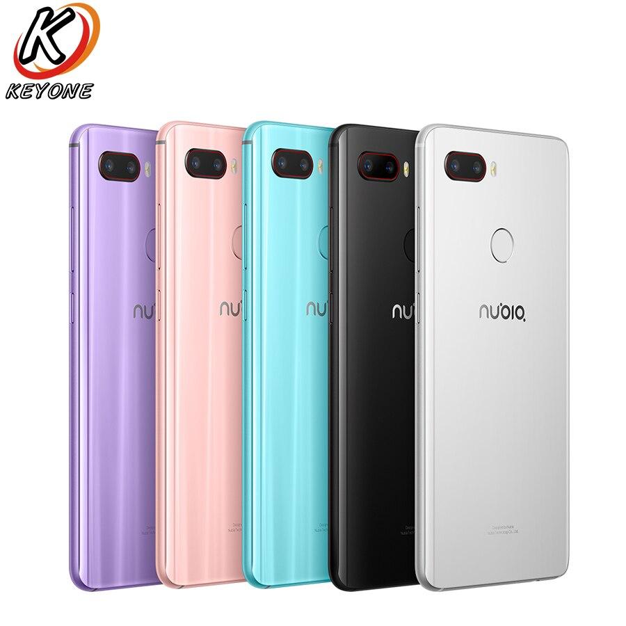 Оригинальный zte Нубия Z18 мини LTE мобильный телефон 5,7 6 ГБ Оперативная память 128 ГБ Встроенная память Восьмиядерный 24MP + 8MP двойной сзади Камер