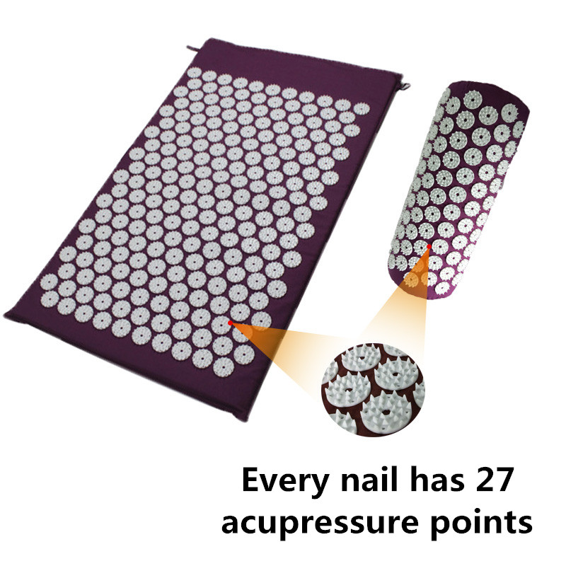 Shakti Mat Cushion Mat Massager Relieve Acupressure Mat Body Pain Acupuncture Spike Yoga Mat with Pillow