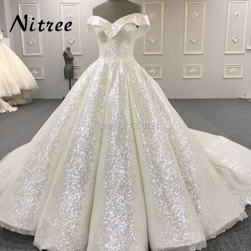 White Muslim Formal   Evening     Dresses   Turkish Arabic Dubai Bling Unique Sequins   Evening   Gowns   Dress   For Weddings Kaftan Glitter