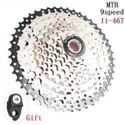 SUNSHINE-SZ MTB 9 prędkości 11-46 T kaseta 9 s koła 9 prędkości 9 v k7 wskaźniki kompatybilny z m430 M4000 M590 rower górski