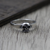 Taiyin osobowość skull ring mężczyzn i kobiet, aby zrobić starą cienka Rocznika Srebro Biżuteria Pierścień S925