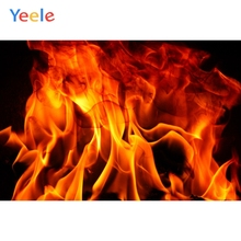 Yeele Fire Flame Fireplace Wallpaper Party Decor Pattern Portrait Photography Backdrop Photo Background Photocall Studio