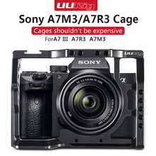 UURIG Aluminum Metal A7III Camera Cage Frame Shell Rig Protective Case Hand Grip For SONY A7III A73 A7R3 A7M3 DSLR Camera Vlog