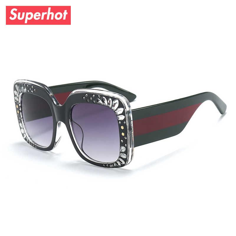 b0daafcf3df9 Superhot Eyewear - Fashion Luxury Sunglasses Women Brand Designer Sun  glasses Vintage Suqare Oversized Gradient Shades