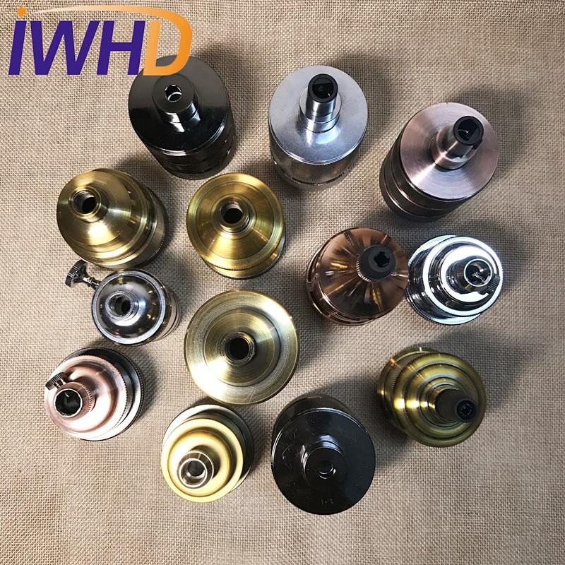 Portalampada, винтажный E27 патрон для лампы, фитинг, промышленный стиль, дуиль E27, винтажный патрон для лампы Эдисона, подвесное основание для патрона