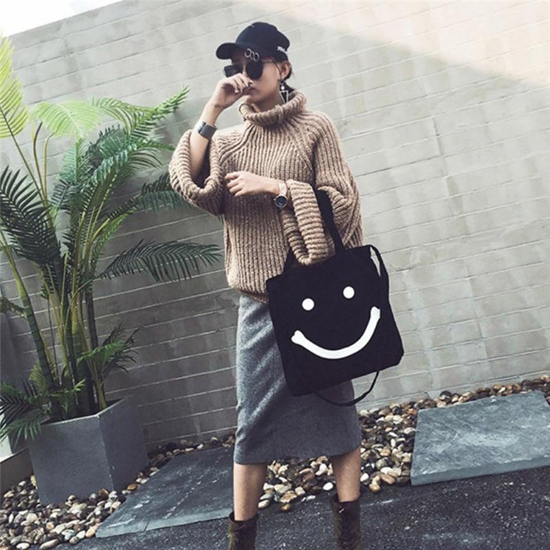New Handbags Beach Bag for Summer Smiling Face Straw Bags Women Tote Messenger Bag Travel Handbags Designer Shopping Hand Bags