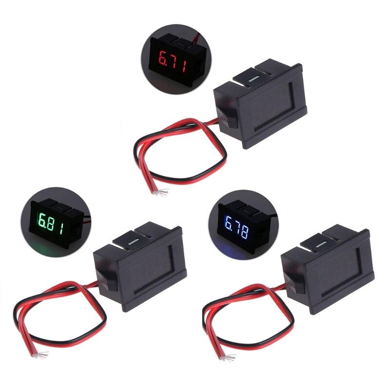 Alta qualidade dc 2 fios 4.5-30 v mini display digital led voltímetro volt voltagem medidor de painel de tensão