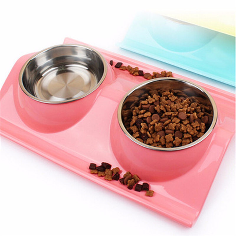 Best Price Stainless Steel Dual Bowl Design Pet Dog Cat Puppy Heat-Resistant Bowl Pot Travel Feeder Food Water Dish Pets Suppies
