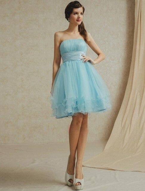 Aliexpress.com: Comprar Barato Simple de Hielo Azul Vestidos de Dama ...