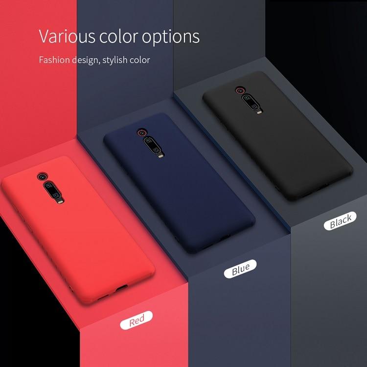 NILLKIN For xiaomi redmi k20 pro case cover Silicone Smooth Protective Back Cover for xiaomi mi 9t mi 9t pro redmi k20 case 6.39