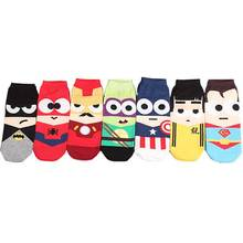 Рекомендую! Высокое качество 3d мультфильм веселые рождественские носки Для мужчин Harajuku Бэтмен Avengers Short новинка носки милые хлопковые носки