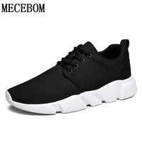 Men Shoes 2017 Summer Breathable Lace Up Men Casual Shoes High Quality Flats Black White Shoes