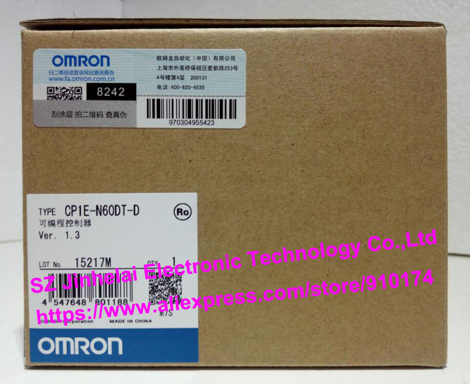 100% New and original CP1E-N60DT-D OMRON PLC CONTROLLER 100% new and original cp1e e10dr d cp1e e10dt a cp1e e10dt d omron programmable controller