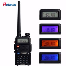 Walkie talkie retevis rt5r 5 w vhf uhf de banda dual DTMF VOX Radio de Dos Vías Estación de Radio de Jamón Portátil Comunicador 7105