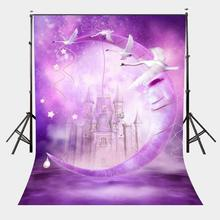 150x210cm Fantastic Night Scene Backdrop Ultraviolet Color Photography Background Castle