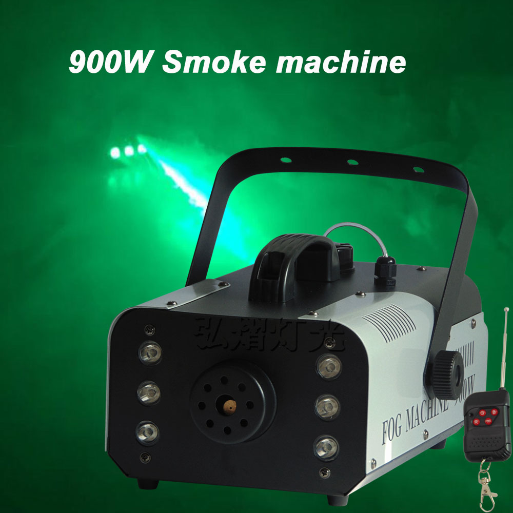 Remote Control 900W smoke machine Professional stage dj equipment Smoke maker Mini 900w fog machine Perfect effects performance 900w 1l fog machine remote wire control fogger smoke machine dj bar party show stage machine