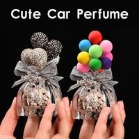 Colorful Diamond Balloons Lovely Mini Car Decoration Interior Car Air Perfume Vehicle Dashboard Ornament Female Girls