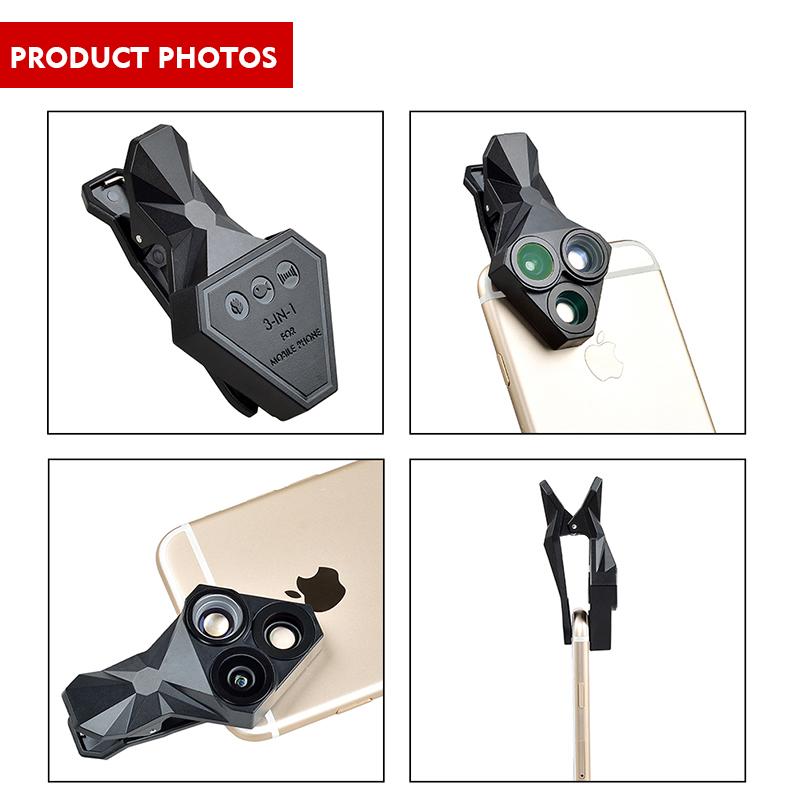 Ulanzi 3 in 1 Phone Camera Lens Kit Wide Angle Macro Fisheye Lens for iPhone Samsung HUAWEI VIVO Xiaomi Smart Mobile phones 11