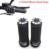 Motorcycle 1 25mm Bars Grips Burst Handlebar Hand Grips CNC for 2008 later Touring Models Road King Electra Glide