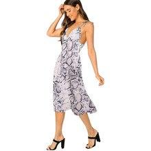 Women's Summer  Sexy Sleeveless Halter V-neck High Waist Slim Dress Party Sling Backless Dress halter backless shirred waist top