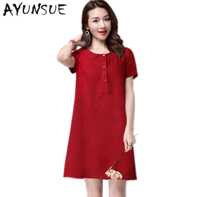 Mini Elegant Thin Summer Dresses Casual 2018 Wine Red Dress Plus