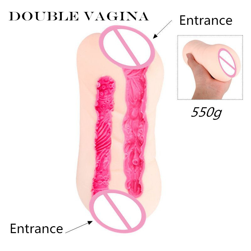 MizzZee Double Vaginas Male Masturbators Sex Toy Two Realistic Tunnels Pocket Pussy Sex Products For Women TPE Flexible Soft fl 33 flexible tpe 0 8 кг