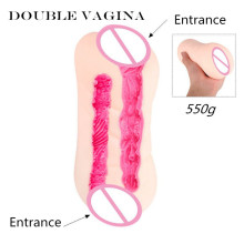 MizzZee Double Vaginas Male Masturbators Sex Toy Two Realistic Tunnels Pocket Pussy Sex Products For Women TPE Flexible Soft