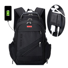 Brand Swiss Laptop 15″Backpack External USB Charge Swiss Computer Backpacks Anti-theft Backpack Waterproof Bags for Men Women