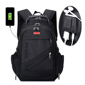 """Image 1 - Brand Swiss Laptop 15""""Backpack External USB Charge Swiss Computer Backpacks Anti theft Backpack Waterproof Bags for Men Women"""