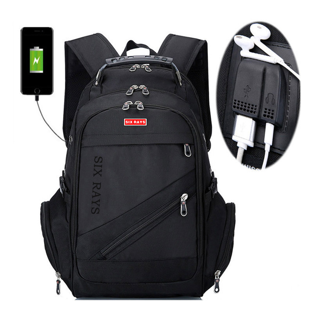 """Brand Swiss Laptop 15""""Backpack External USB Charge Swiss Computer Backpacks Anti theft Backpack Waterproof Bags for Men Women"""