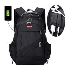 Sac à dos dordinateur portable 15 pouces, Swiss, Charge USB externe, sac à dos Anti vol, sacs étanches pour hommes et femmes