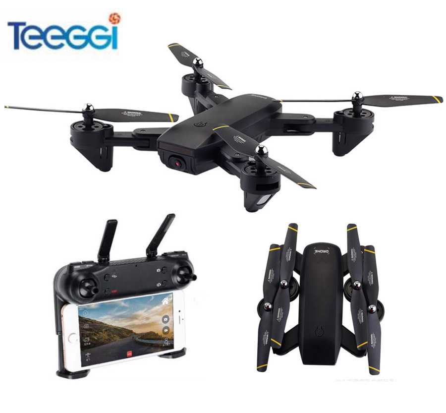 Teeggi SG701 WiFi FPV RC Selfie Drone With Dual Camera 720P HD 2.4GHz Foldable Quadcopter Dron Helicopter VS Visuo XS809HW SG700 rc drone foldable aircraft helicopter fpv wifi rc quadcopter 2 4ghz remote control dron with hd camera vs visuo xs809w xs809hw