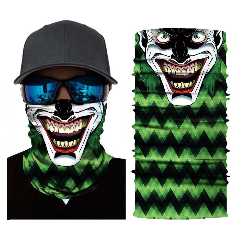 Motorcycle Mask Biker Face Shield Ghost Balaclava Unisex Skull Face Mask Cycling Seamless Bandanas Ski Mascara Moto Biker Mask