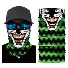 Motorcycle Mask Biker Face Shield Ghost Balaclava Unisex Skull Cycling Seamless Bandanas Ski Mascara Moto