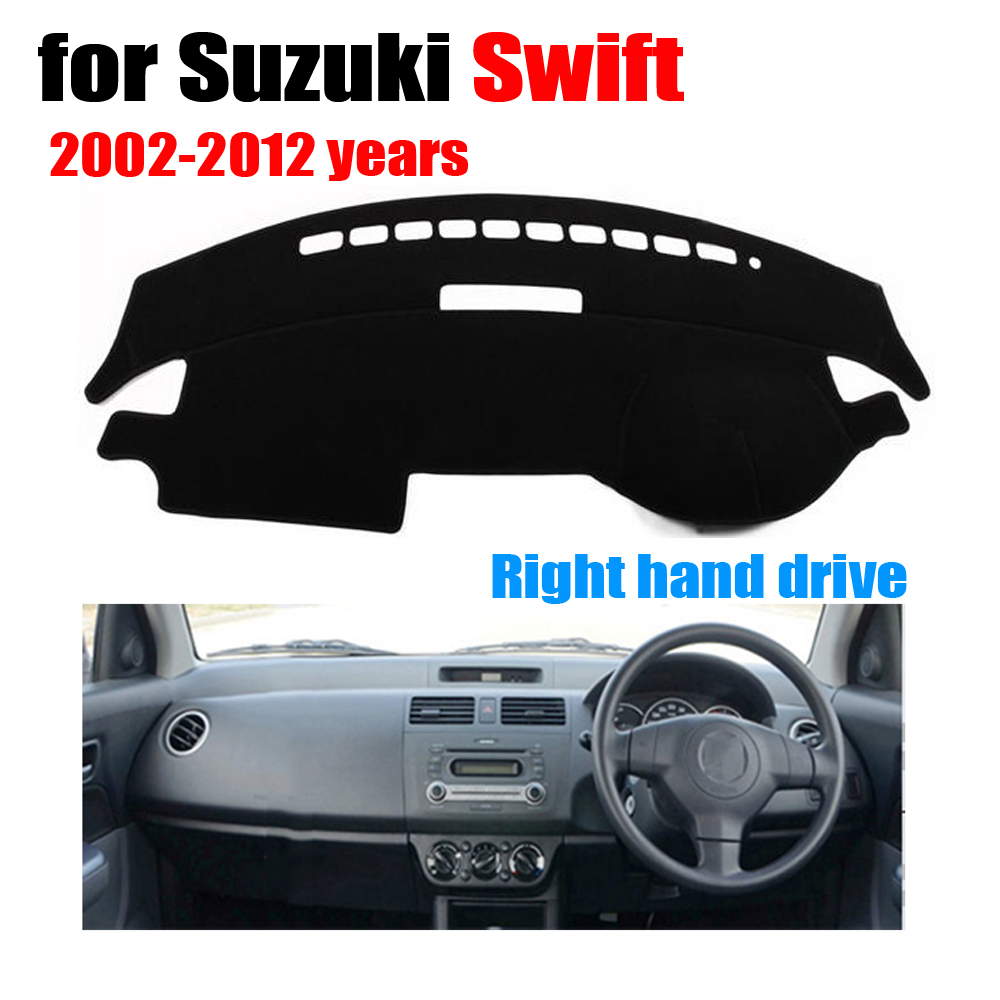Car dashboard covers for Suzuki Swift 2002-2012 years Right hand drive dashmat pad dash cover auto dashboard accessories