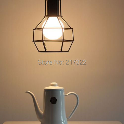 EDISON VINTAGE PENDANT LIGHT Rustic Iron Cage Hanging Ceiling Lamp The new(China)