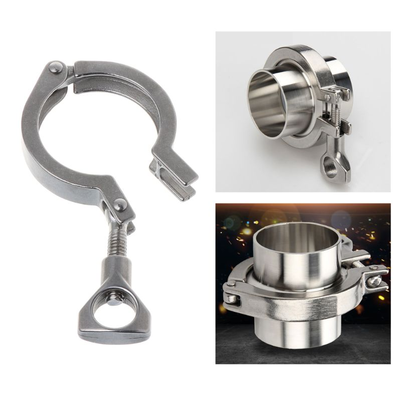 1.5''Stainless Steel Single Pin Heavy Duty Tri Clamp with Wing Nut Ferrule TC