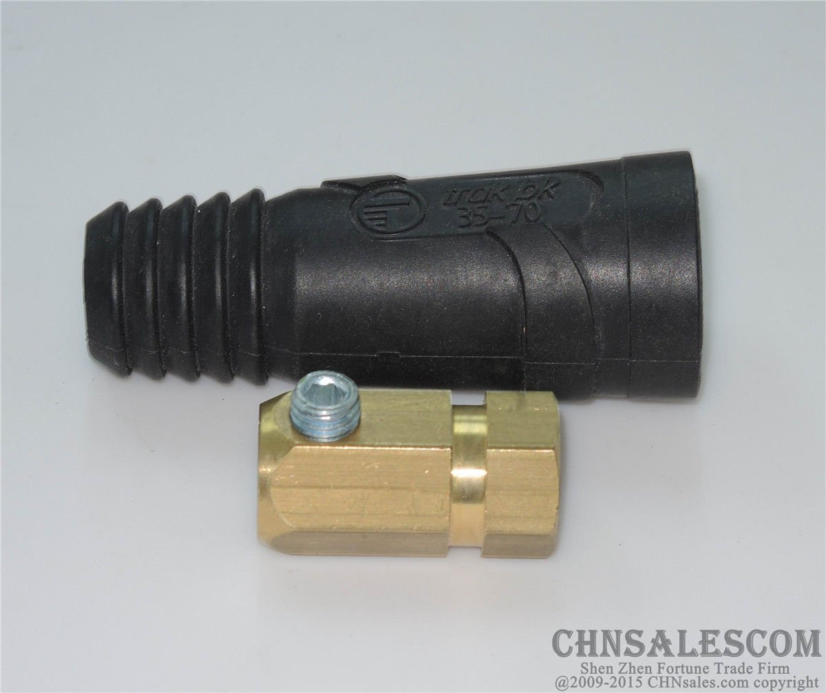 250A-400A European welding cable sockets rapid connector 35-70mm2
