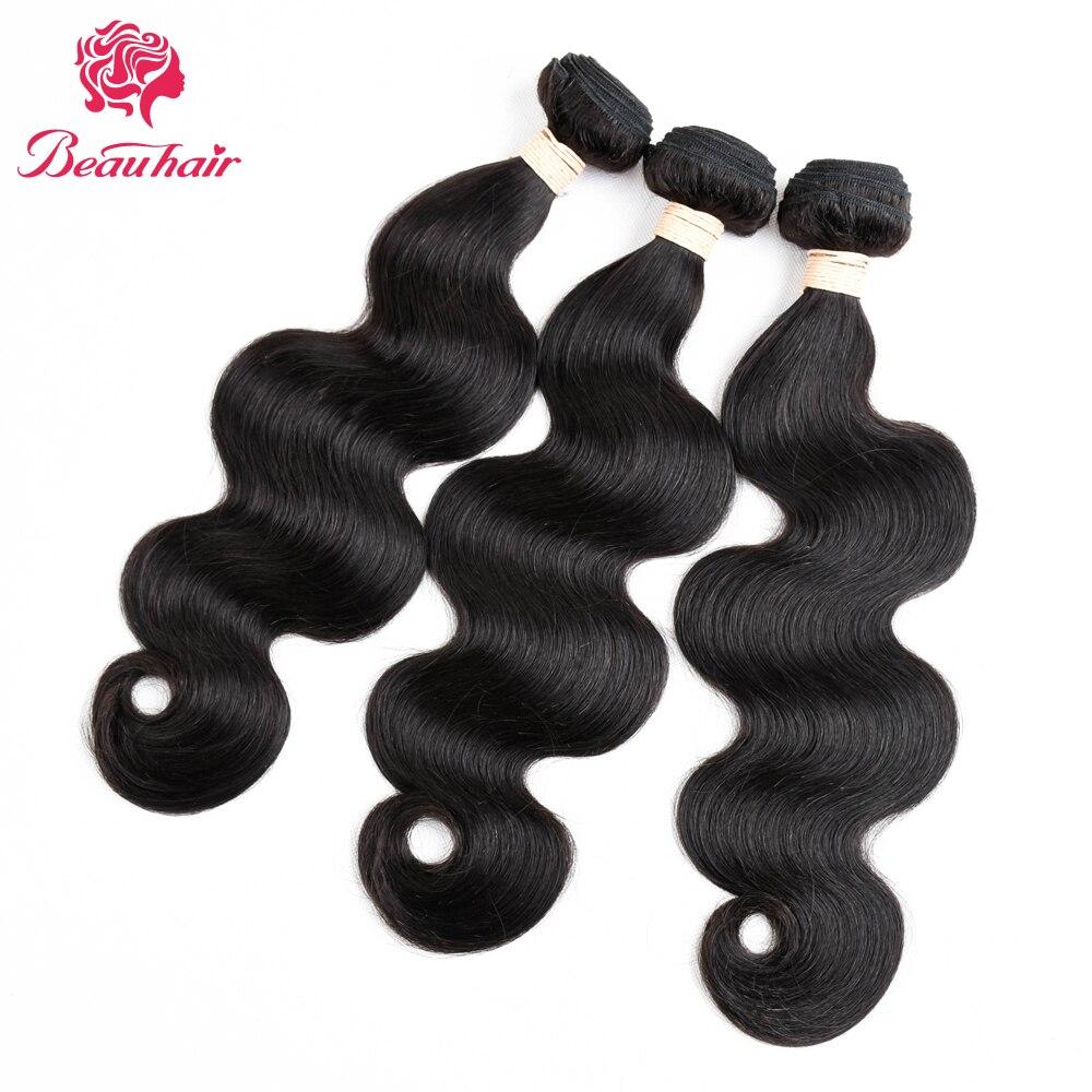 Beauhair 100% Human Hair Bundles Body Wave 3 Bundles Hair Weave Natural Black Hair Extension 300g Malaysian Hair 8-26