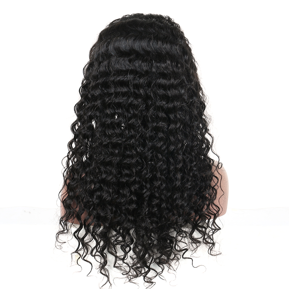 250% Full Density Lace Front Human Hair Wigs For Women 13x6 Lace Front Wig Deep Wave Brazilian Wig Black Sunny Queen Remy