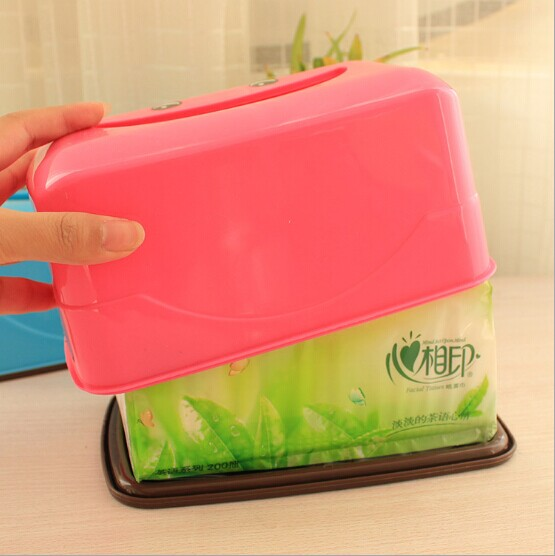 1PC Random Color Plastic Storage Wet Tissue Box Baby Wipes Box Tissue Container Living Room Table Paper Napkin Solder OK 0052
