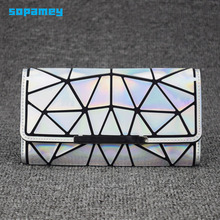 2019 Zipper Wallet Womens Long Clutch Geometric Standard