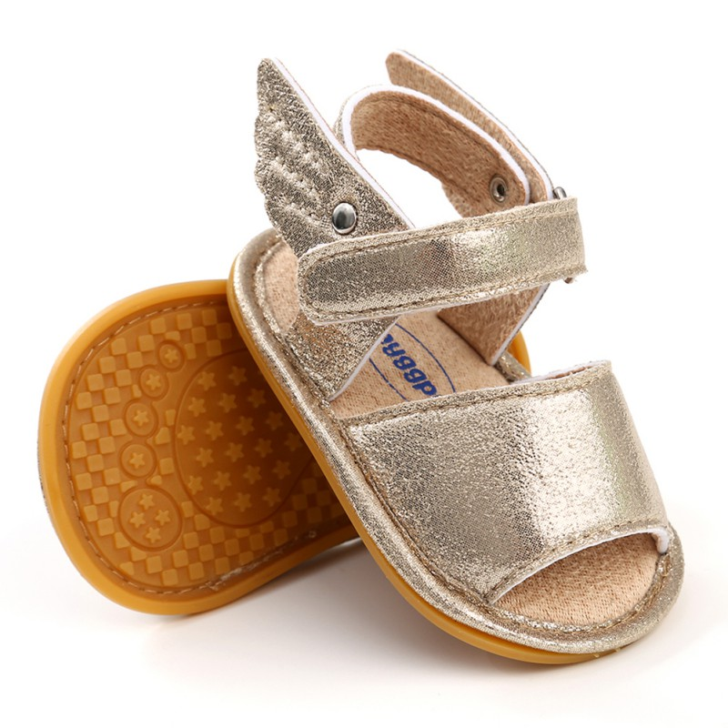 Summer New Baby Boys Girls Shoes Solid Wing Fashion First Walker Newborn Infant Toddler Soft Rubber Sole Beach Prewalkers Shoe