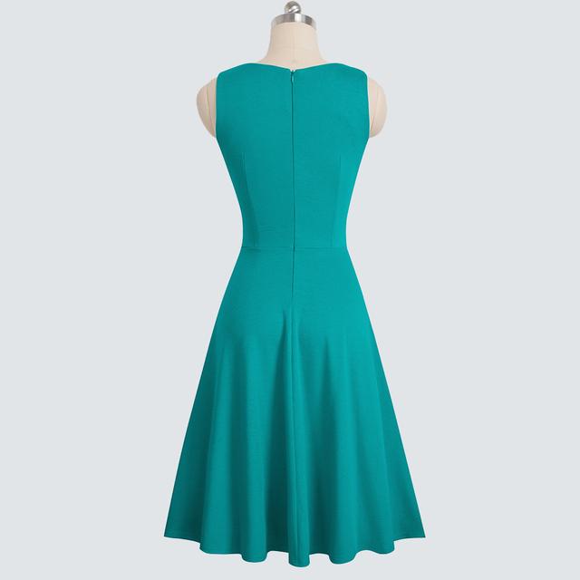 Elegant Flower Lace Women Casual Round Neck A-line Dress Summer