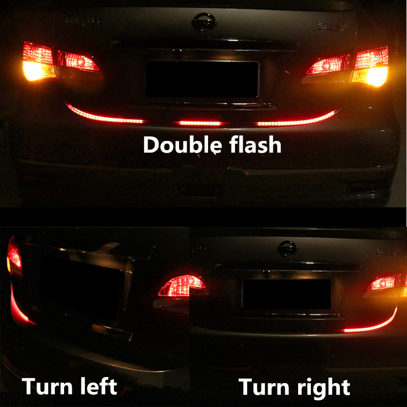 Newest car tuning turn signal light strip led trunk tailgate light newest car tuning turn signal light strip led trunk tailgate light dual color flowing led strip rear strip light lamp 12v 121cm in car light assembly from aloadofball Gallery