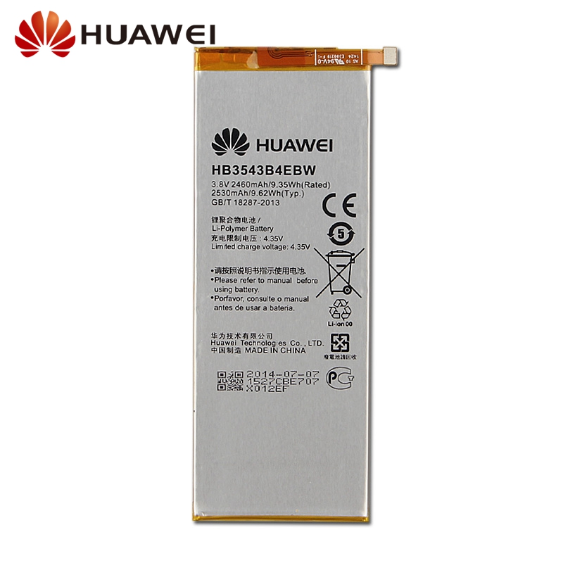 Original Replacement Phone Battery For Huawei Ascend P7 L07 L09 L00 L10 L05 L11 HB3543B4EBW Rechargeable Battery 3100mAh in Mobile Phone Batteries from Cellphones Telecommunications