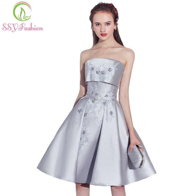Aliexpress Com Buy New Design Simple But Elegant Short: Aliexpress.com : Buy SSYFashion New Evening Dress The